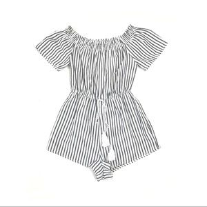 Tobi Striped Weight Off Your Shoulders Romper